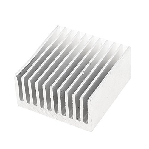 sourcingmap® Silberton Alu Kühler-kühler Wärmeableiter Kühler 40x40x20mm