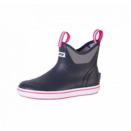 Xtratuf Performance Series 6' Women's Full Rubber Ankle Deck Boots, Navy & Pink (XWAB-200)(10)