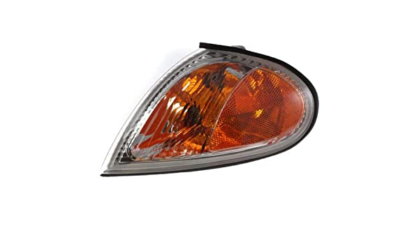 Corner Light Compatible with 1999-2000 Hyundai Elantra Plastic Clear /& Amber Lens With bulb Driver Side