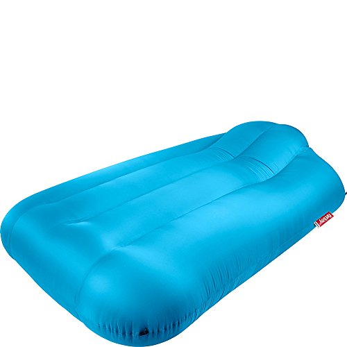 Fatboy Lamzac XXXL, Huge Portable Inflatable Air Lounger Bed with Carry Case - Aqua Blue