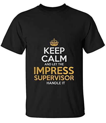 Break Time men's Impress Supervisor simple Unisex shirt black