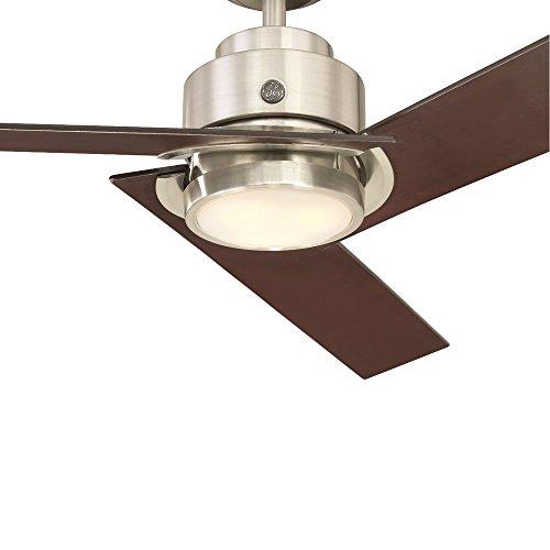 "GE Daelyn 54"" Brushed Nickel LED Indoor/Outdoor Ceiling Fan"