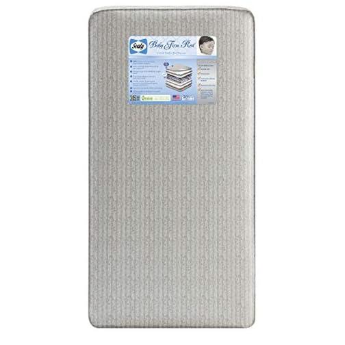 Sealy Baby Firm Rest Antibacterial Waterproof Standard Toddler & Baby Crib Mattress – 204 Premium Coils, Healthy Clean…