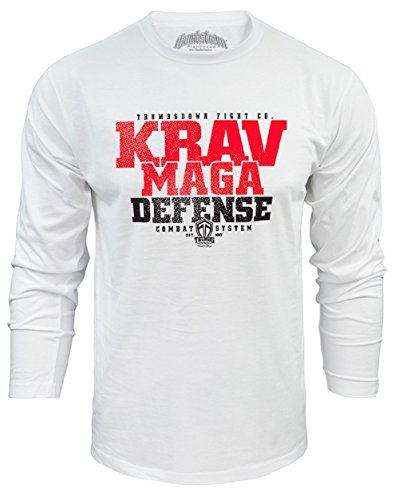 Krav Maga Defense Long Sleeved Top. Combat System. MMA Herren T-shirt