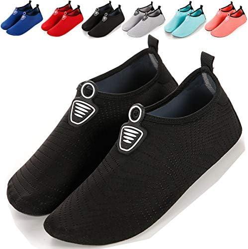 マリンシューズ メンズ レディースアクアシューズ ウォーターシューズ 海水浴靴 超軽量/速乾/通気/柔軟海水浴靴 超軽量/速乾/通気/柔軟 (21~21.5cm, ブラック-1) [並行輸入品]