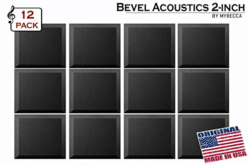 mybecca-12-pack-acoustic-foam-bevel-tiles-soundproofing-wall-panel-12-x-12-x-2-inch-made-in-usa