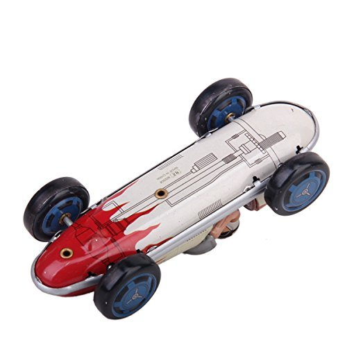 Veroda Wind-Up Retro Tin Racing Car Model Toy Collectible Gift