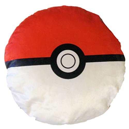 Pokemon Pokeball Classic Red and White 13 inch Plush Round Pillow