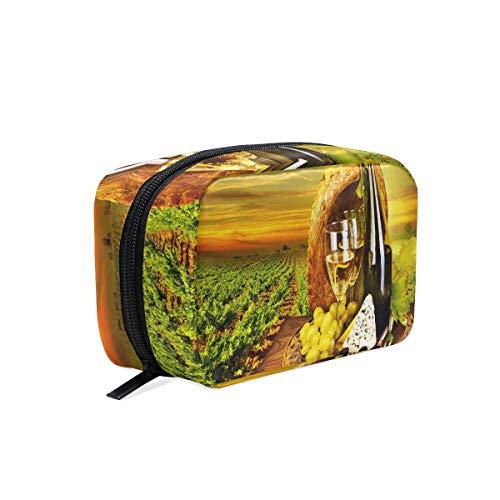 Cosmetic Makeup Bag Pouch Bottle Wine Cheese Plantation Clutch (Bottle Bt Pouch)