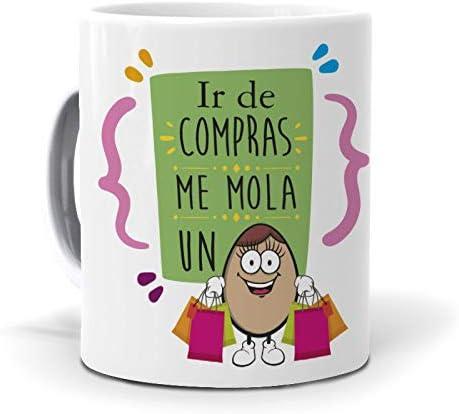 Taza IR de Compras me Mola un Huevo: Amazon.es: Hogar
