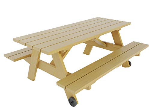 Picnic Table with Benches Plans DIY Outdoor Patio Garden Furniture Build Your Own