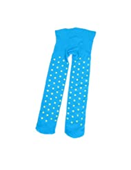 Korea Style Elastic Waist Dots Pattern Footed Leggings Tights for Girl