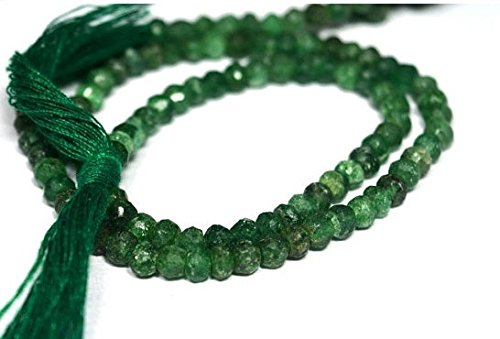 Natural Beryl Jewelry - 1 Strand Natural beryl emerald loose beads - 3-4mm rondelle beads 13