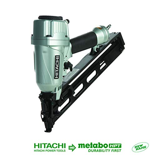 Hitachi NT65MA4 1-1/4 Inch to 2-1/2 Inch 15-Gauge Angled Finish Nailer with Air...