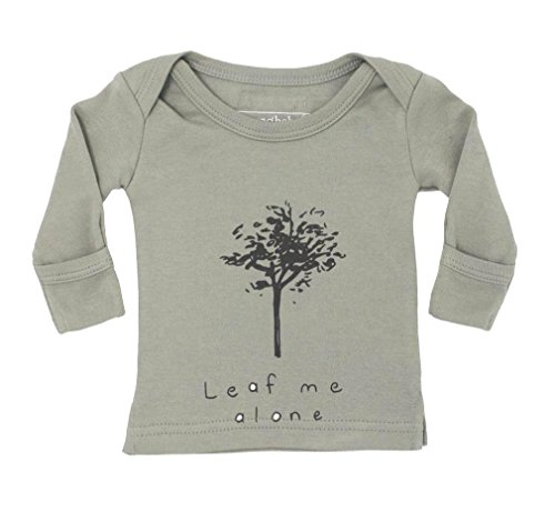 L'ovedbaby Unisex-Baby Organic Cotton Long Sleeve Shirt (Seafoam Leaf Me Alone, 12-18 Months) ()