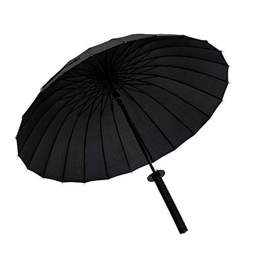 Windproof Samurai Sword Sun Rainny Umbrella Ninja-Like Straight Long Handle Ribs Manual Open Close,24 K