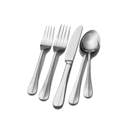 (Pfaltzgraff 5077445 Simplicity 20-Piece Stainless Steel Flatware Set, Service for 4)