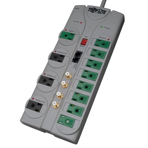 037332138293 - Tripp Lite 6 Outlet Surge Protector Power Strip, 6ft Cord, 790 Joules, Black, 50K Insurance (TLP606B) carousel main 2