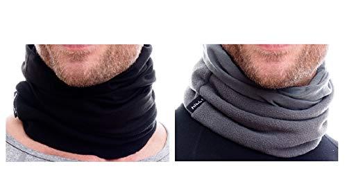Motorrad Halstuch f/ür Damen und Herren Schlauchschal Hilltop 2-er Set Polar Multifunktionstuch Ski Gesichtsmaske mit Fleece