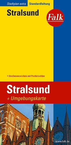 Falk Stadtplan Extra Standardfaltung Stralsund