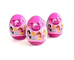 3 Disney Princess Surprise Eggs with Toy, Sticker, and Candy