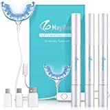 MayBeau Teeth Whitening Kit, 24X LED Professional light for Whiter Teeth, Includes 3 Teeth Whitening Pens, 35% Carbamide Peroxide-No Sensitivity-Whiten Teeth in Just 10 Minutes