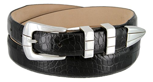 Vince Italian Calfskin Leather Designer Golf Dress Belt for Men (40, Alligator (Alligator Skin Belt)