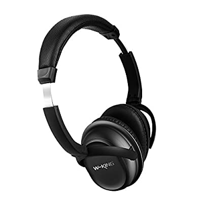 W-KING Headphones Active Noise Cancelling Bluetooth 4.0 Headphones Portable Wireless HIFI Super Stereo Sound Headsets with Mic for Phone 10 Hours ANC Battery Time Wired / Bluetooth