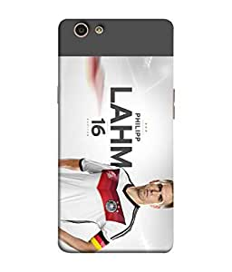 ColorKing Football Lahm Germany 01 Multicolor shell case cover for OPPO F1S