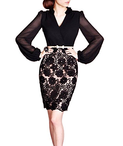 Buy belted pencil skirt dress - 3