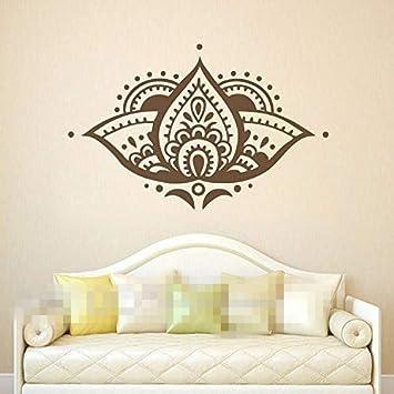 pegatinas de pared Mandala tatuajes de pared de loto Namaste ...