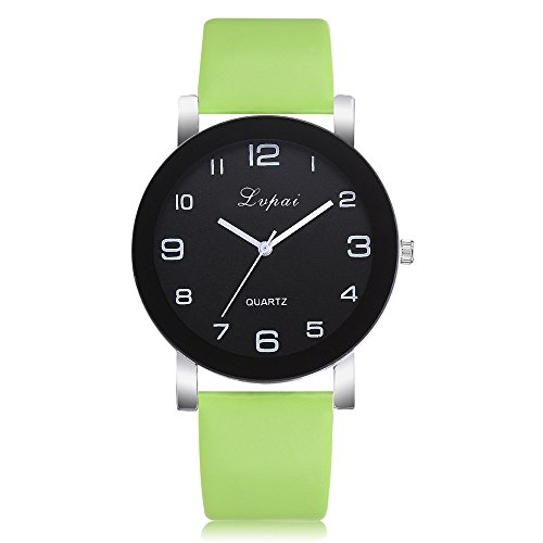 - Women Watches On Sale Clearance Cuekondy 2019 Fashion Leather Band Number Dial Analog Quartz Wrist Watch (Green)