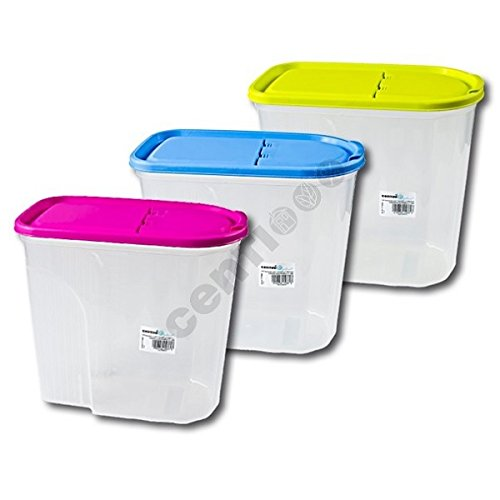 5 Stück Vorratsdose Müslibox Aufbewahrungsbox Schüttdose 5l, 24,5x25,5x14 cm