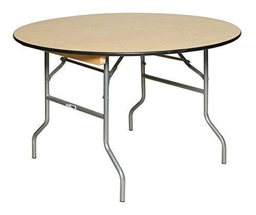 (Round Table w Birch Plywood Top (36 in. Dia. x 30 in. H))