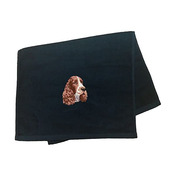 Cherrybrook Black Dog Breed Embroidered Anvil Hand Towel (All Breeds) 1