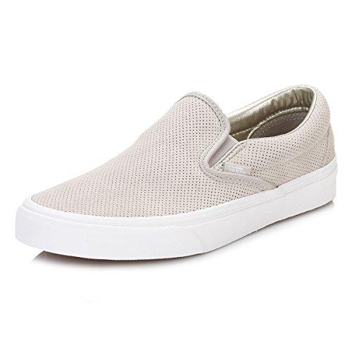 e5919dfb79 Vans Womens Perf Suede Slip-On Silver Cloud True White Sneaker - 8 - Buy  Online in Oman.