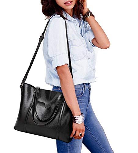 Taille bandoulière Noir Sac Messenger à coloré à Noir à Sac Sac Main Main Moontang P0Eq7Rx