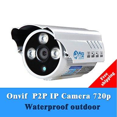"JOOAN JA-733-KRB-T Waterproof HD 720P 1.0 MP 1/4"" CMOS IP Bullet Camera / IR-CUT / 3-IR LED - White"