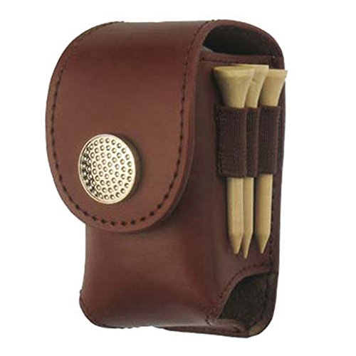 Onpiece Mini Golf Valuable Pouch Faux Leather Golf Pouch (Brown)