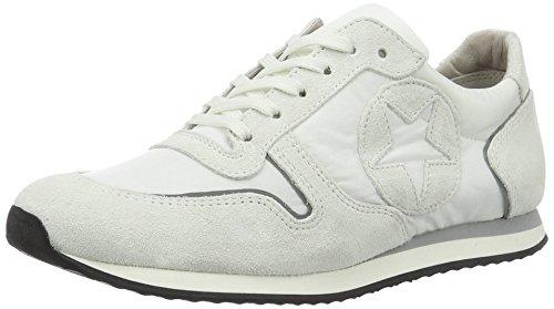 Schuhmanufaktur Kennel weiss Grau Low Bianco Schmenger und Weiß Frauentrainer Sneakers Sohle Top qEPE1rRwx