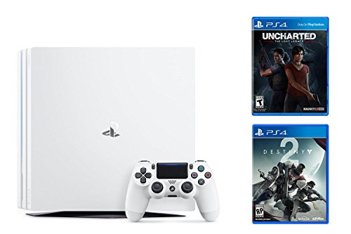 PlayStation 4 Pro Destiny Bundle 2 items: PS4 Pro 1TB Console-Destiny 2, Game Disc Uncharted: The Lost Legacy