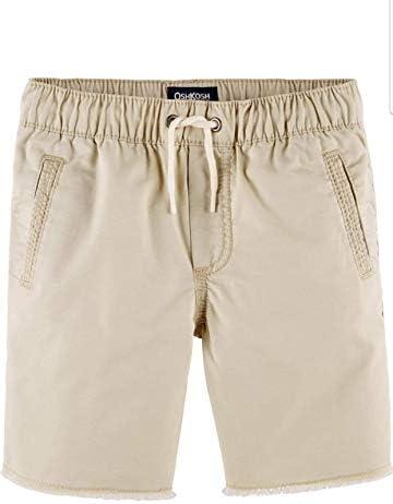 Baby Boys OshKosh Pull-On Raw Hem Shorts Khaki