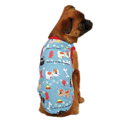 Casual Canine Polyester/Cotton Tough Dog Tank, Large, Blue