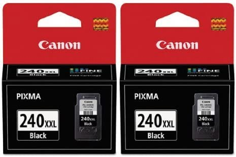 2 X Canon PG-240XXL Office Products FINE Cartridge Ink