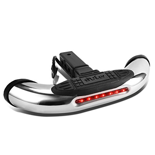Led Trailer Hitch Brake Lights - Bully CR-605L 605 Series 2 in 1 Receiver Hitch Mount Step with LED Brake Light
