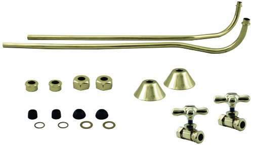 Westbrass Double Offset Bath Supply Lines with 1/2
