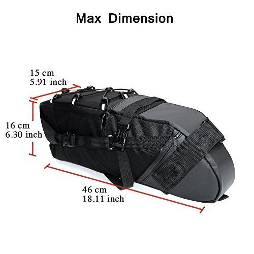 NEWBOLER Strap On Bike Saddle Bag / Bicycle Seat Pack Bag, Cycling Wedge 3 10L Expandable