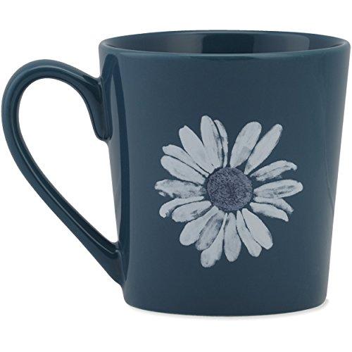 Life Is Good Women's Daisy Watercolor Everyday Mug, Sea Blue, OS