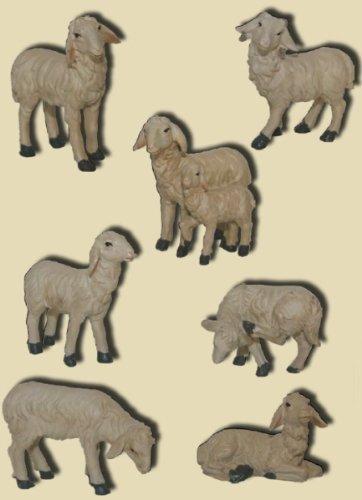 geeignet f/ür 15 bis 20cm Figuren Ziege liegend