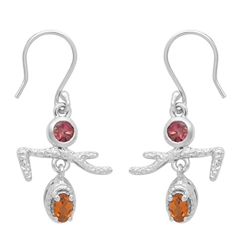 Shine Jewel Multi Color Tourmaline Statue Earring Jewelry For Girls